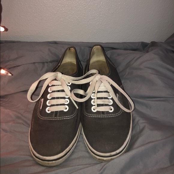 Vans Shoes   Grey Low Top Vans Old